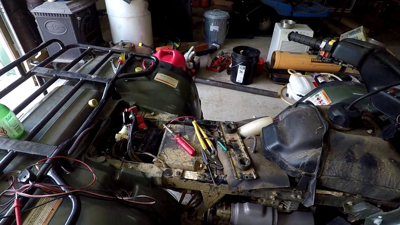 Honda Forman 400 ATV Electrical Problem - YouTube on