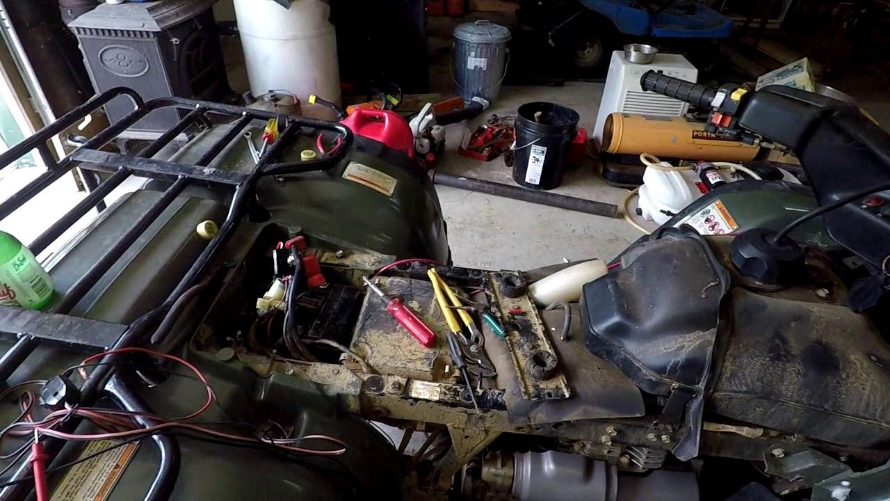 Honda Forman 400 ATV Electrical Problem  YouTube