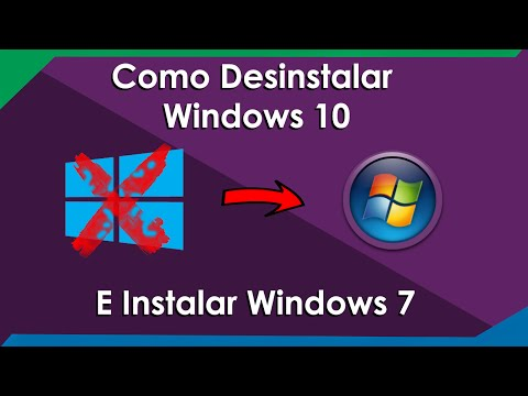 COMO DESINSTALAR WINDOWS 10 E INSTALAR WINDOWS 7
