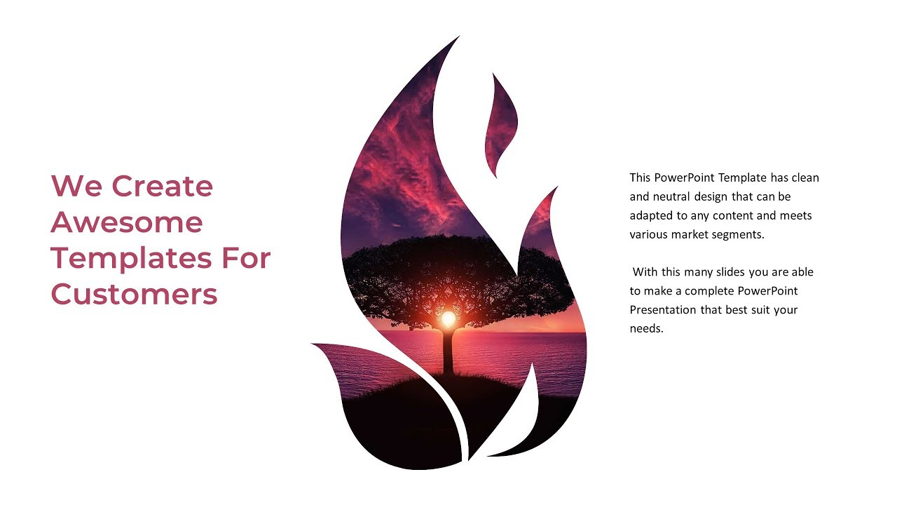 Download Free Powerpoint Template Fire Picture Placeholders And Vectors Youtube