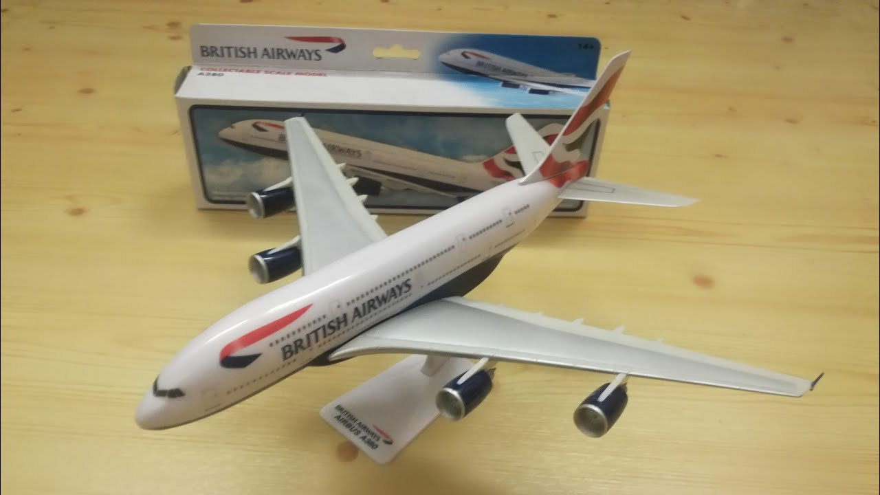 original British airways plane airbus A380 full video review unboxing model construction