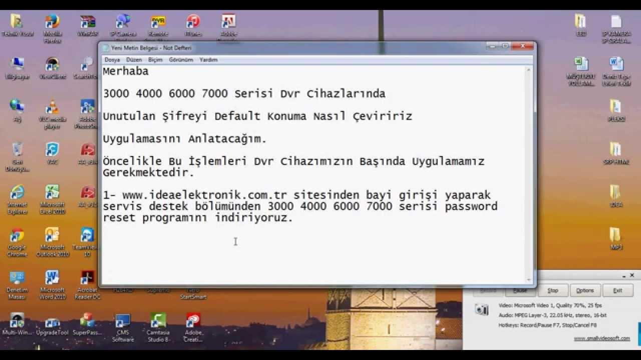Dvr'larda Password Resetleme İşlemi - YouTube
