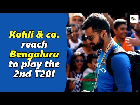 Watch: Virat Kohli & his team reach Bengaluru to play the 2nd T20I | India vs Australia