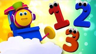 bob o trem | crianças números canção | ensinar números | Bob Number Train | Numbers 1 To 10