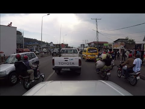 Geoffs Highway View : Goma to ICCN ranger base   DRC Congo
