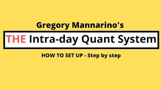 How to set up Gregory Mannarino's Intra-Day Quant System 2.0 (New and Improved and Subtitles)