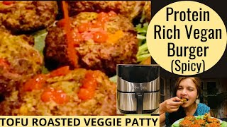 Spicy TOFU BURGERS in AIR FRYER  Best Ways To Add More PROTEIN &amp VEGETABLES Into Your Diet