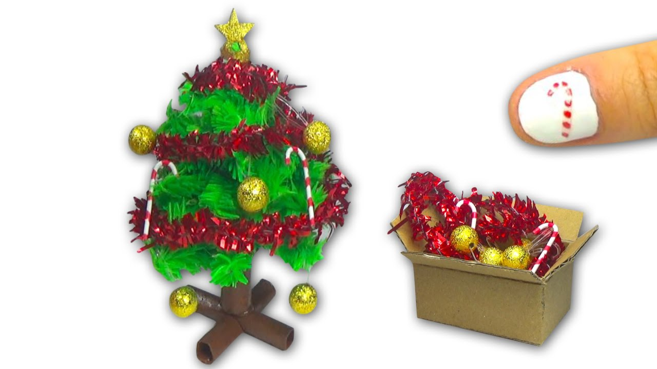 How to make a doll christmas tree and christmas for A christmas decoration