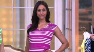 Liz Claiborne New York Stripe Print Knit Dress on QVC