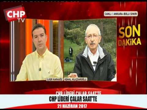 CHP LİDERİ ÇALAR SAAT'TE 21/06/2017