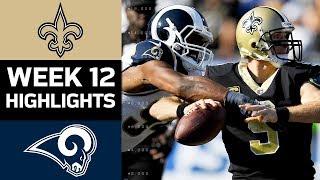 Saints vs. Rams   NFL Week 12 Game Highlights