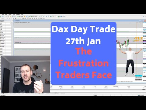 The Frustration Traders Face – Dax Day Trade 27th Jan