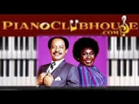 """♫ How To Play The Theme From """"THE JEFFERSONS"""" - Piano Tutorial Lesson"""