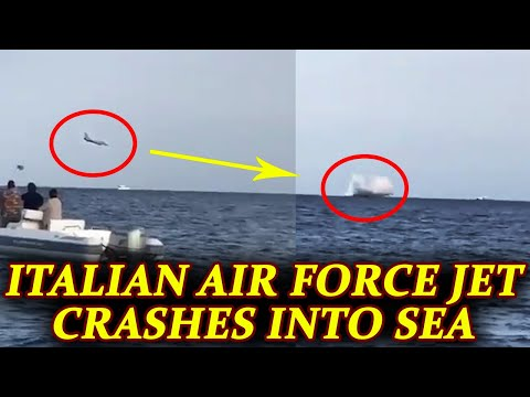 Italian airforce plane crashes into sea during airshow, Watch here | Oneindia News