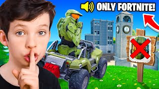 Playing as Master Chief in a FORTNITE Only Tournament...