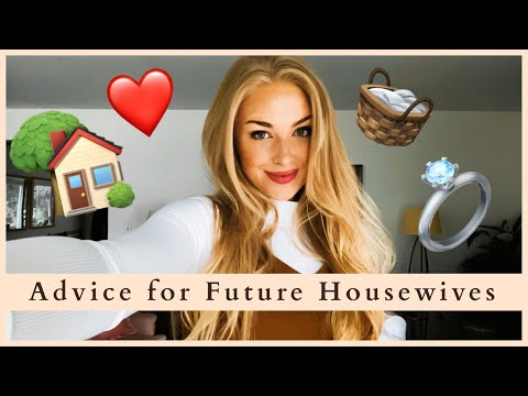 My Advice for Aspiring Homemakers || Tips for Future Housewives/Homemakers