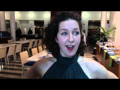 Viulisti Sarah Christian heti välieräosuutensa jälkeen / Sibelius Violin Competition 2015