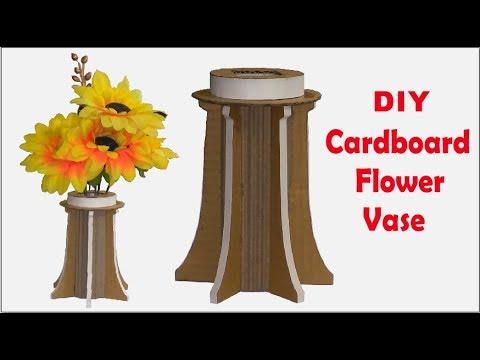 Cardboard Flowers Vase How To Make A Vase From Waste Cardboard