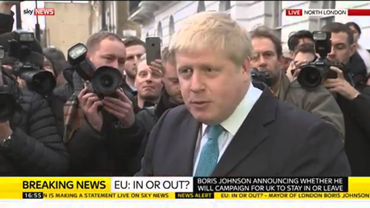 Boris Johnson Announces He Will Campaign For Britain To Leave The Eu