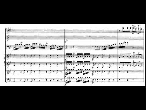 Bassoon Concerto in B flat Major (W.A. Mozart) Score Animation