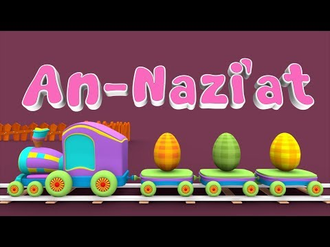 Animation 3D Juz Amma An Nazi'at For Children Memories with Battar trains hijaiyah by abata chann