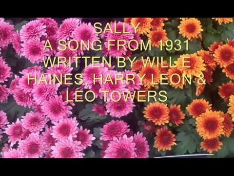 SALLY  - A GRACIE FIELDS SONG FROM 1931 -  PIANO/SYNTHESIZER WITH LYRICS