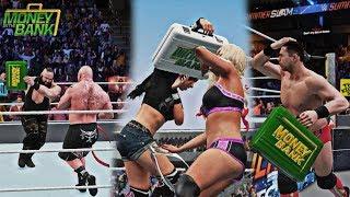 WWE 2K18: 3 HIDDEN MONEY IN THE BANK CASH IN ATTEMPT CUTSCENES!