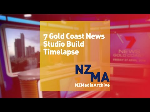 7 Gold Coast News Set Construction Timelapse