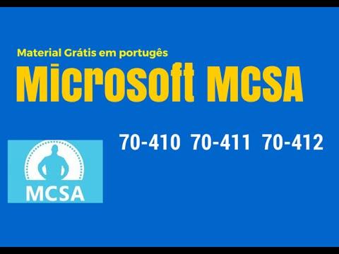 Download material estudos grátis para certificação Microsoft MCSA (exames 70-410, 70-411 e 70-412)