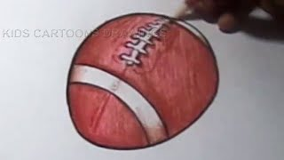 How to Draw Football Drawing for kids