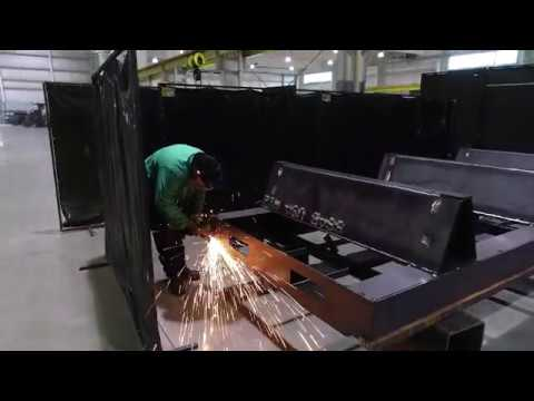 CNC Frame fabrication - Flipping a C.R. Onsrud M-Series frame.