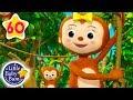 Five Little Monkeys Swinging in The Tree |  + More Nursery Rhymes & Kids Songs | Little Baby Bum