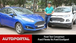 Ford Fiesta Vs Ford EcoSport Test Drive Comparison - Autoportal(http://autoportal.com/newcars/compare/ford-fiesta-vs-ford-ecosport.html These two cars cost roughly the same amount but offer a unique set of characteristics., 2015-02-26T14:06:29.000Z)
