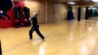 kung fu little girl