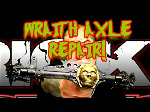 Axial Wraith RC car differential removal and upgrade
