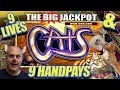 """9 HANDPAY$ on """"CATS"""" 🙀$225 / $450 ✴HUGE BET$ ✴ at The Cosmopolitan Casino"""
