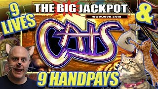 "9 HANDPAY$ on ""CATS"" 🙀$225 / $450 ✴HUGE BET$ ✴ at The Cosmopolitan Casino"