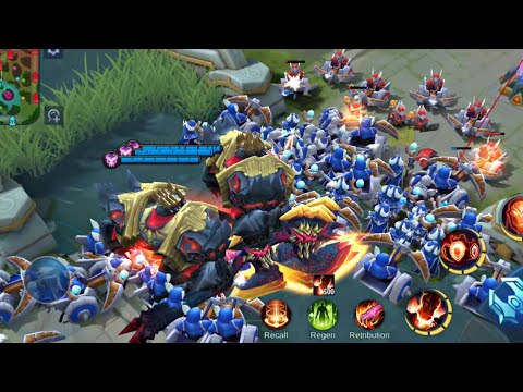 ATTACKING ENEMIES WITH 20 LORDS IN MOBILE LEGENDS!