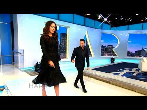 Adria Arjona Shows Harry How to Walk in High Heels