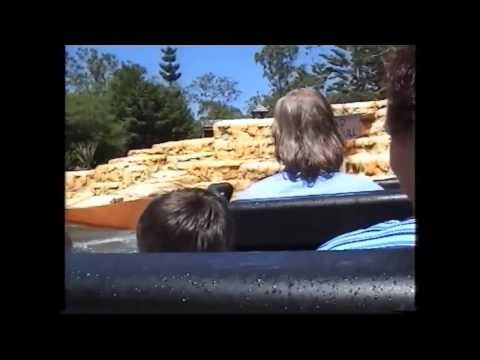 Rocky Hollow Log Ride at Movieworld