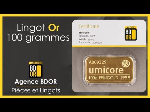 Lingot Or 100g - Achat Vente Or - Agence BDOR