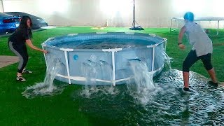 OUR SWIMMING POOL EXPLODED‼️