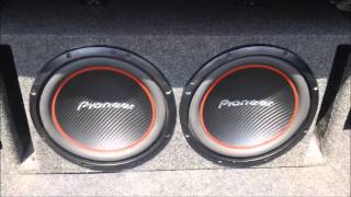 Subwoofer Videos. 2 12 inch pioneer TS-W304R subwoofers