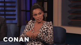 "Rosario Dawson's Veganism Helped Her Land A Role In The ""Zombieland"" Sequel - CONAN on TBS"