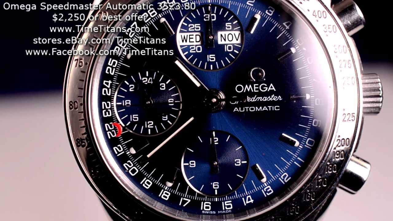 Omega Speedmasater Automatic 3523.80 Blue Triple Calendar ...