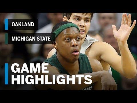 Highlights: Oakland at Michigan State | Big Ten Basketball