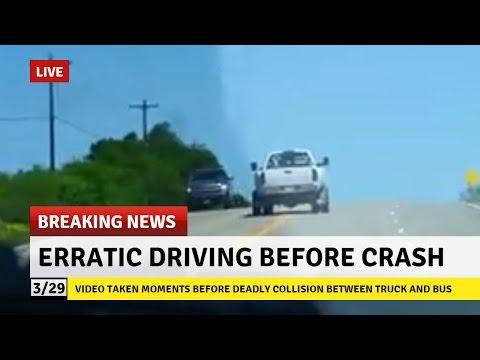 Cellphone Video - Moments Before Impact -  Deadly Texas Church Bus Crash