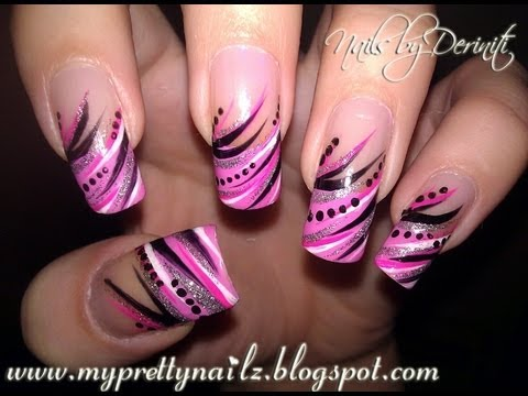 Diva tips exotic freehand french tips using nail art striper diva tips exotic freehand french tips using nail art striper paint easy tutorial prinsesfo Image collections