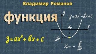 ФУНКЦИЯ y=ax2+bx+c ее свойства и график