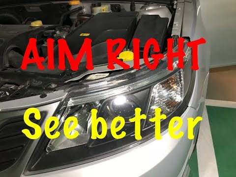HOW TO ADJUST, ALIGN or AIM HEADLIGHTS